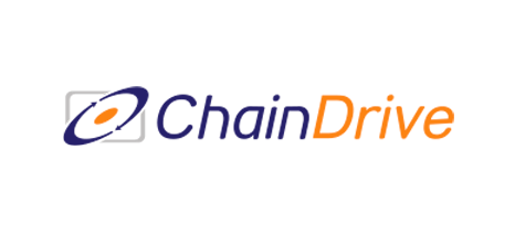 A logo spelling out chain drive