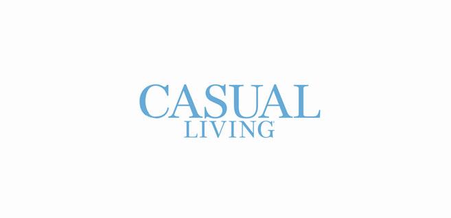 A logo that reads Casual Living